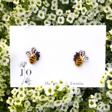 """JO Ehted """"Mesilased"""" puidust kõrvarõngad"""